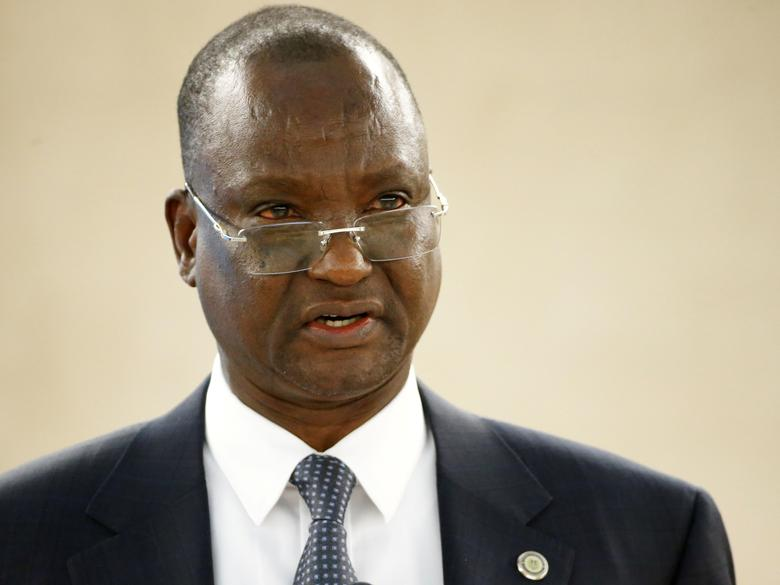 FILE PHOTO: Taban Deng Gai, First Vice President of South Sudan attends the 34th session of the Human Rights Council at the European headquarters of the United Nations in Geneva, Switzerland, February 27, 2017. REUTERS/Denis Balibouse/File Photo