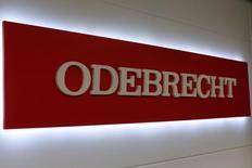Logo da Odebrecht nos escritórios da empresa na Cidade do México, no México 04/05/2017 REUTERS/Carlos Jasso