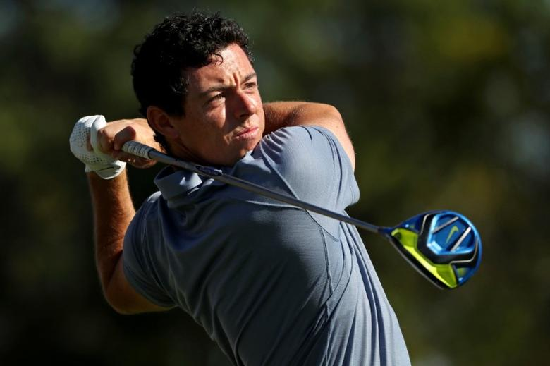Oct 2, 2016; Chaska, MN, USA;  Rory McIlroy of Northern Ireland plays his shot from the third tee during the single matches in 41st Ryder Cup at Hazeltine National Golf Club. Mandatory Credit: Rob Schumacher-USA TODAY Sports  / ReutersPicture Supplied by Action Images