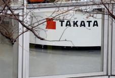 L'équipementier automobile japonais Takata, menacé d'un dépôt de bilan après le rappel massif d'airbags défectueux, a publié mercredi pour la troisième année consécutive une perte nette, de 79,6 milliards de yens (643 millions d'euros). /Photo prise le 9 février 2017/REUTERS/Toru Hanai
