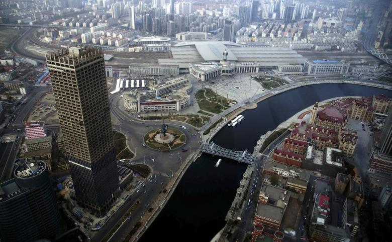 A general view of centre Tianjin taken from Tianjin World Financial Center, April 15, 2013.  REUTERS/China Daily