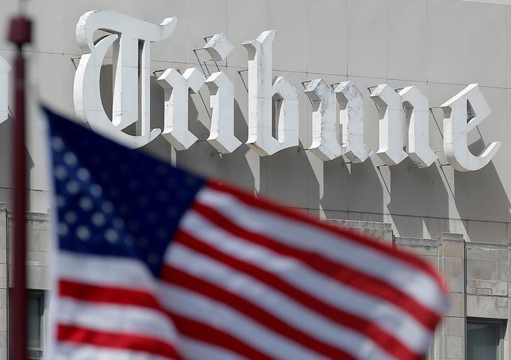 The Chicago Tribune building is seen in Chicago, Illinois, United States, May 16, 2016.     REUTERS/Jim Young/File Photo