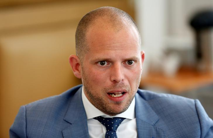 Belgium's Asylum and Migration State Secretary Theo Francken speaks during an interview with Reuters in Brussels, Belgium, May 11, 2017. REUTERS/Francois Lenoir