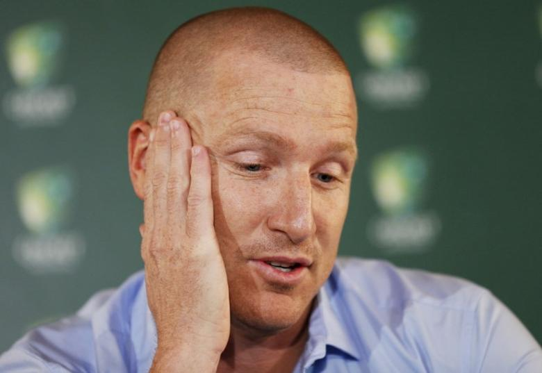 FILE PHOTO: Australian cricket team wicket keeper Brad Haddin announces his retirement from the sport at the Sydney Cricket Ground, September 9, 2015. REUTERS/Jason Reed