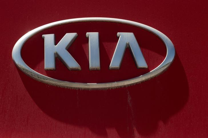 The logo of Kia Motors is seen at the manufacturing plant in Pesqueria, on the outskirts of Monterrey, Mexico, April 3, 2016. REUTERS/Daniel Becerril/File Photo