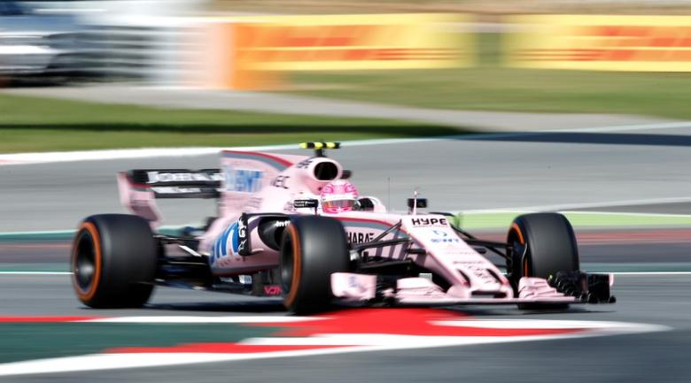 Formula One - F1 - Spanish Grand Prix - Barcelona-Catalunya racetrack, Montmelo Spain - 12/05/17 - Force India's Esteban Ocon in action during the first free practice. REUTERS/Albert Gea