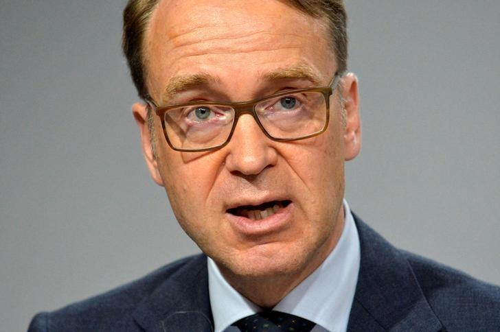 Bundesbank President Jens Weidmann makes remarks at a press briefing during the IMF and World Bank's 2017 Annual Spring Meetings, in Washington, U.S., April 21, 2017.   REUTERS/Mike Theiler/Files