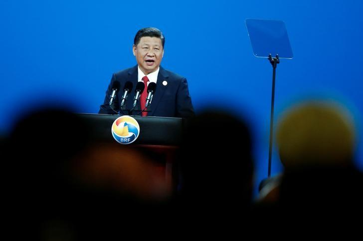 Chinese President Xi Jinping attends the opening ceremony of the Belt and Road Forum in Beijing, China, China, May 14, 2017.  REUTERS/Thomas Peter