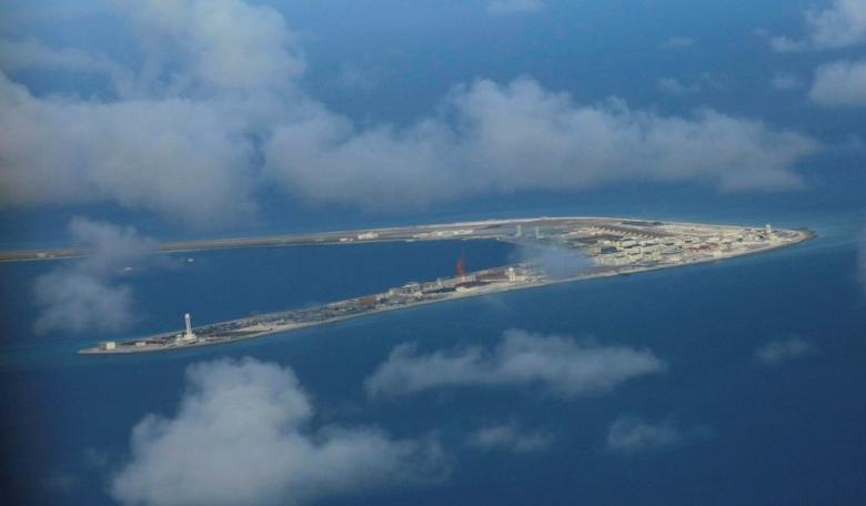 An aerial view of China-occupied Subi Reef at Spratly Islands in the disputed South China Sea. REUTERS/Francis Malasig/Pool