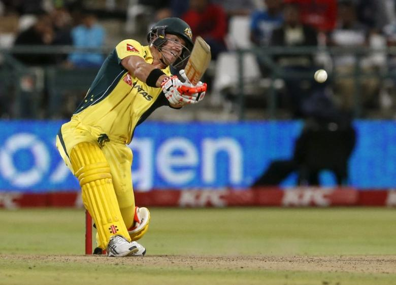Cricket - Australia v South Africa - T20 International - Newlands Stadium, Cape Town, South Africa - 9/3/2016 Australia's David Warner plays a shot REUTERS/Mike Hutchings  Picture Supplied by Action Images