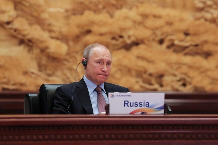 Russia's President Vladimir Putin attends the Roundtable Summit Phase One Sessions of Belt and Road Forum at the International Conference Center in Yanqi Lake on May 15, 2017 in Beijing, China.  REUTERS/Lintao Zhang/Pool