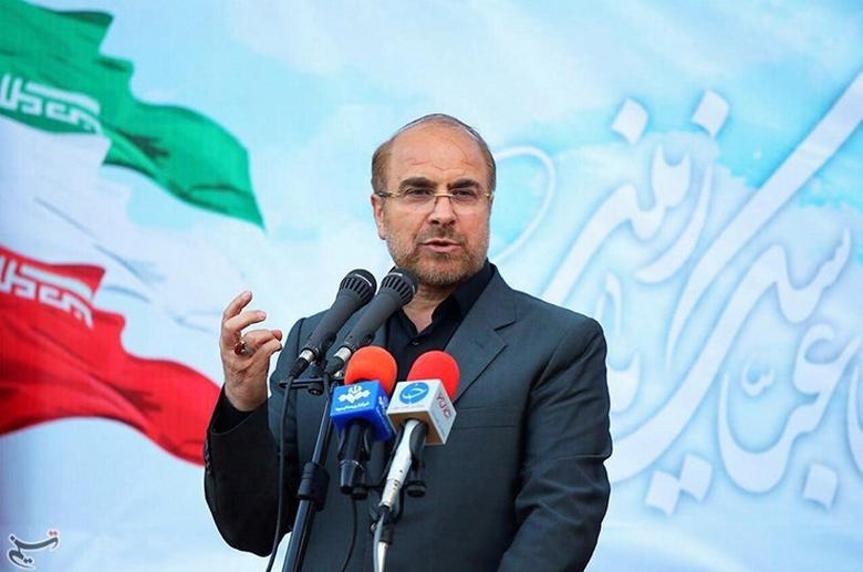 FILE PHOTO: Mohammad Baqer Qalibaf gestures in this undated handout photo provided by Tasnim News Agency on May 9, 2017. Tasnim News Agency/Handout/File Photo via REUTERS
