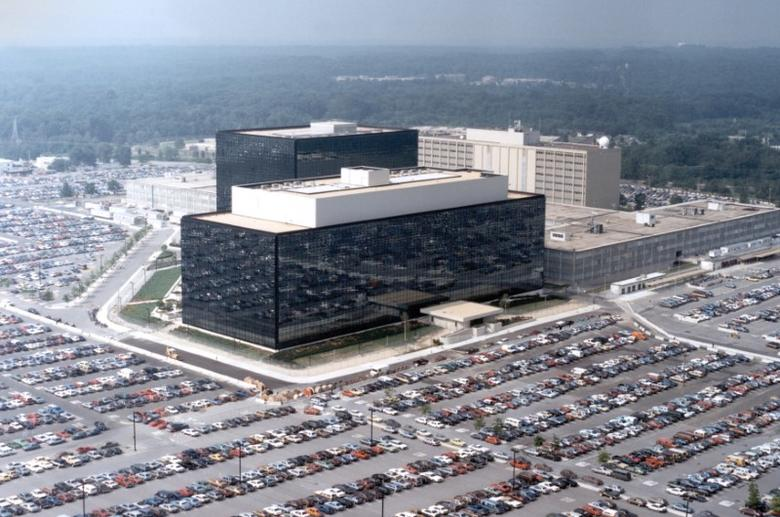 An undated aerial handout photo shows the National Security Agency (NSA) headquarters building in Fort Meade, Maryland.   NSA/Handout via REUTERS