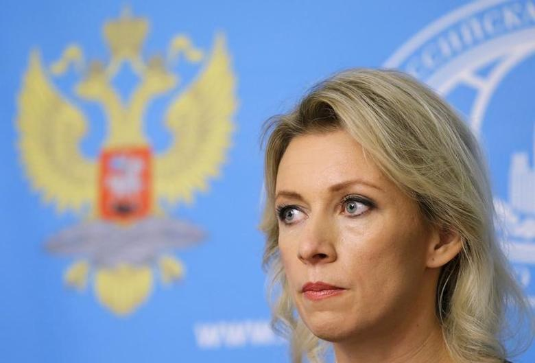 Spokeswoman of the Russian Foreign Ministry Maria Zakharova attends a news briefing in Moscow, Russia, in this file photo dated October 6, 2015. REUTERS/Maxim Shemetov