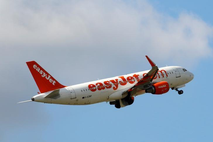 An EasyJet Airbus A320 aircraft takes off at the Charles de Gaulle airport in Roissy, France, August 9, 2016. REUTERS/Jacky Naegelen