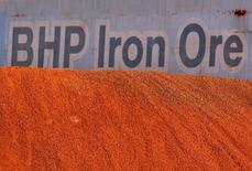Le fonds activiste Elliott Management a accentué la pression mardi sur BHP Billiton en réclamant une étude indépendante sur les activités pétrolières du géant minier anglo-australien, auquel il réclame depuis plus d'un mois des changements stratégiques pour dégager de la valeur en faveur des actionnaires. /Photo d'archives/REUTERS/Tim Wimborne