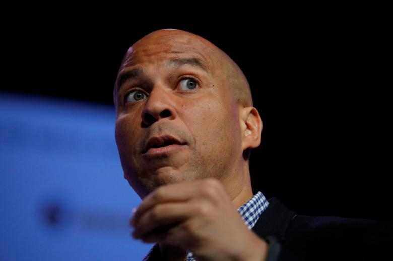 U.S. Senator Cory Booker (D-NJ) answers questions at the South by Southwest (SXSW) Music Film Interactive Festival 2017 in Austin, Texas, U.S., in this file photo dated March 10, 2017.   REUTERS/Brian Snyder