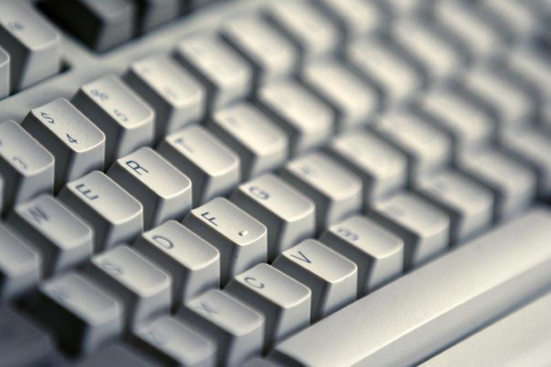 A computer keyboard is seen in Bucharest April 3, 2012.   REUTERS/Bogdan Cristel