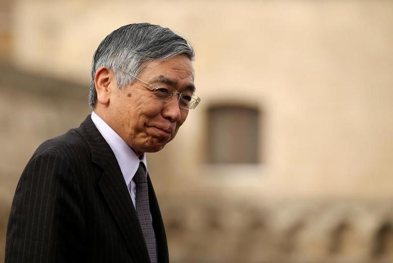 Japanese Central Bank Governator Haruiko Kuroda in Bari, Italy, May 12, 2017. REUTERS/Alessandro Bianchi