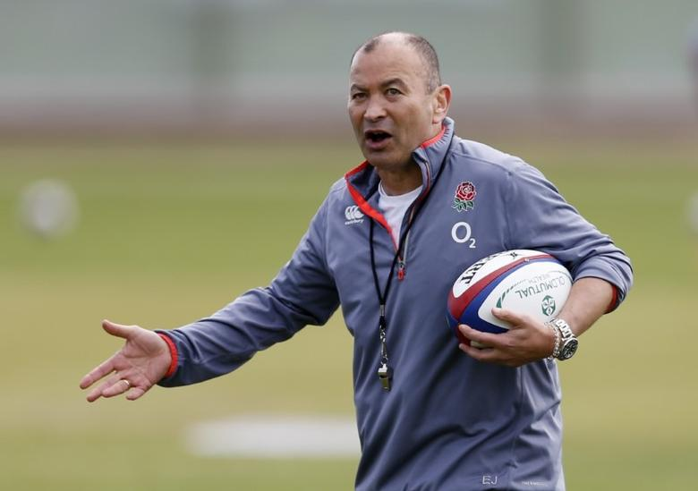 Britain Rugby Union - England Training - Brighton College - 16/5/17 England head coach Eddie Jones during training Action Images via Reuters / Andrew Boyers Livepic