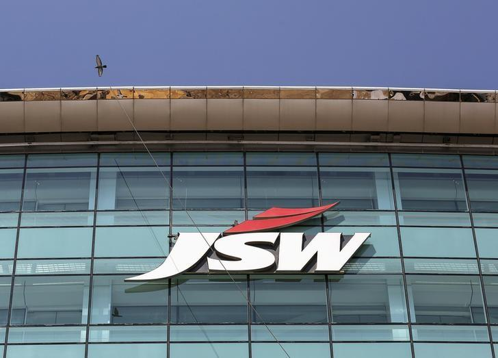 The logo of JSW is seen on the company's headquarters in Mumbai, February 11, 2016. REUTERS/Danish Siddiqui/File Photo