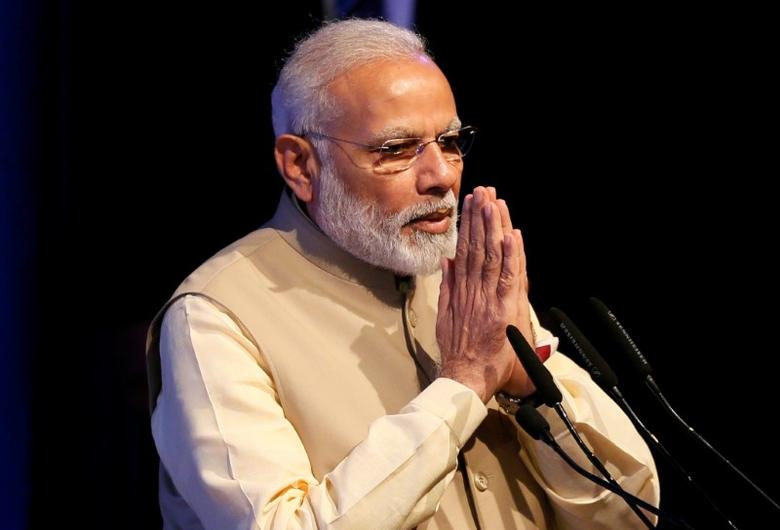 India's Prime Minister Narendra Modi gestures during the United Nations Vesak Day Conference in Colombo, Sri Lanka May 12, 2017. REUTERS/Dinuka Liyanawatte