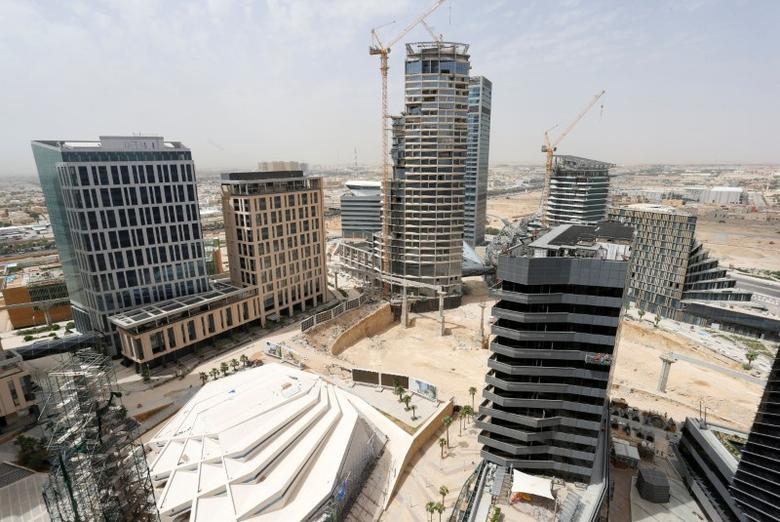 FILE PHOTO: A view shows the King Abdullah Financial District north of Riyadh, Saudi Arabia, May 12, 2016.    REUTERS/Faisal Al Nasser/File Photo