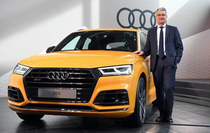 Audi CEO, Rupert Stadler poses next to an Audi SQ5 before the company's annual news conference in Ingolstadt, Germany, March 15, 2017. REUTERS/Lukas Barth/Files