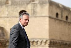 Governor of the Bank of Canada Stephen S. Poloz leaves the G7 for Financial ministers meeting in the southern Italian city of Bari, Italy, May 12, 2017. REUTERS/Alessandro Bianchi