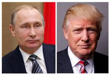 De plus en plus d'élus républicains à Washington demandent l'ouverture d'une enquête indépendante pour établir s'il y a eu ou non collusion entre la Russie et l'équipe de campagne de Donald Trump. /Photo d'archives/REUTERS/Ivan Sekretarev/Lucas Jackson