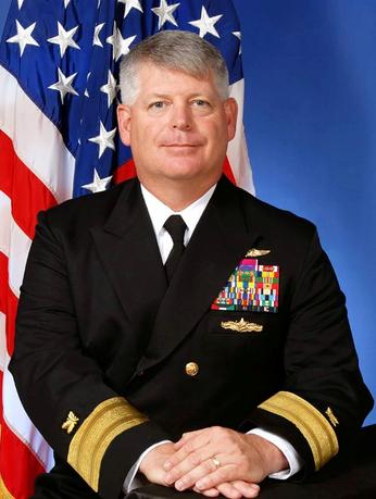 FILE PHOTO - U.S. Navy Rear Admiral Robert Gilbeau is seen in an undated official picture from the U.S. Navy.   Courtesy U.S. Navy/Handout via REUTERS/File Photo