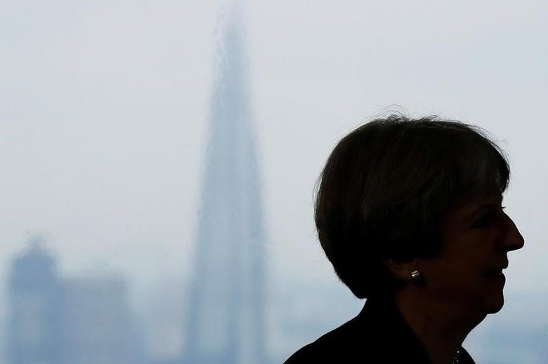 Britain's Prime Minister Theresa May attends a news conference in London's Canary Wharf financial district, May 17, 2017. REUTERS/Stefan Wermuth