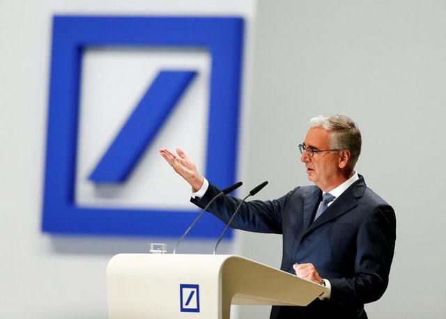 Deutsche Bank supervisory board chairman Paul Achleitner speaks during the bank's annual general meeting in Frankfurt, Germany May 18, 2017.  REUTERS/Ralph Orlowski/File Photo
