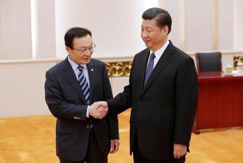 中国主席、韓国との関係改善に前向き姿勢 大統領特使と会談
