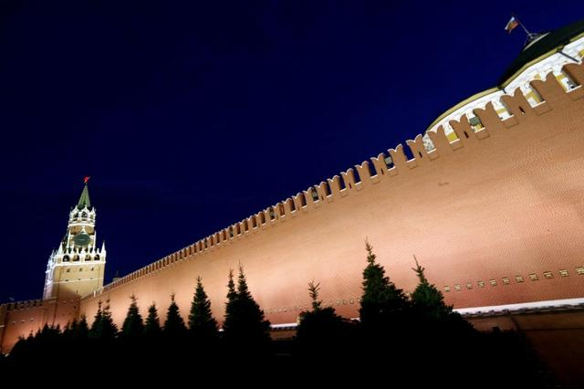 FILE PHOTO: A general view shows the Spasskaya Tower and the Kremlin wall in central Moscow, Russia, May 5, 2016.       REUTERS/Sergei Karpukhin/File Photo