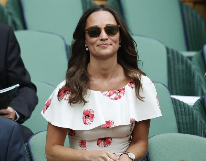 Pippa Middleton at Wimbledon.  REUTERS/Paul Childs