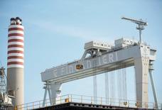Il cantiere navale di Fincantieri a Monfalcone.    REUTERS/Alessandro Bianchi