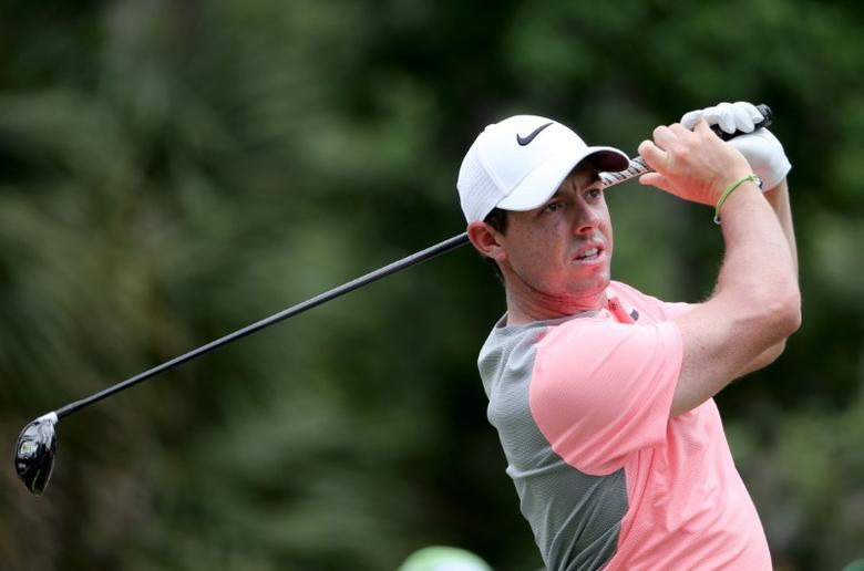 FILE PHOTO - May 14, 2017; Ponte Vedra Beach, FL, USA;    Rory McIlroy tees off on the 2nd hole during the final round of The Players Championship golf tournament at TPC Sawgrass - Stadium Course. Mandatory Credit: Peter Casey-USA TODAY Sports