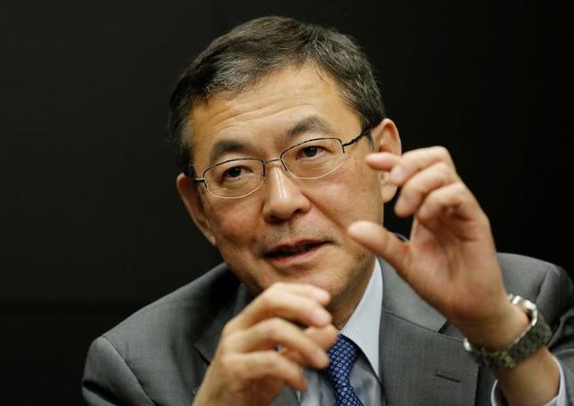 5月22日、SUBARU(スバル)の吉永泰之社長はロイターとのインタビューで、同社の研究開発費は過去最高となる2018年3月期(今期)の1340億円(計画ベース)がピークとの見通しを明らかにした。都内の本社で撮影(2017年 ロイター/Toru Hanai)