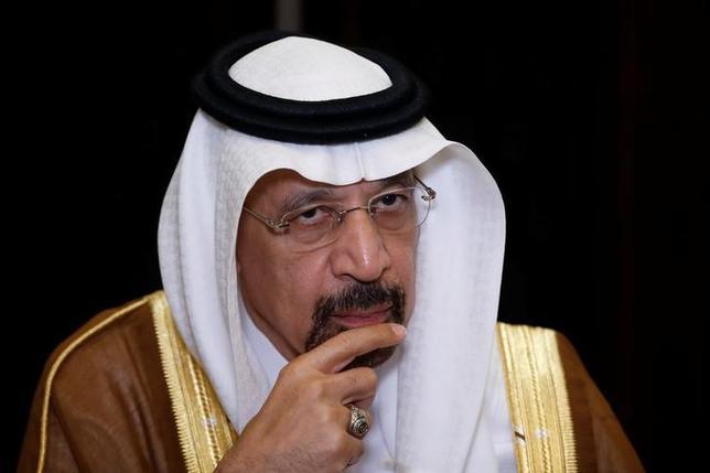 5月21日、サウジアラビアのファリハ・エネルギー相は、石油輸出国機構(OPEC)とその他の主要産油国による協調減産の延長に向けた調整が進んでいると明らかにした。写真は同エネルギー相。北京で15日撮影(2017年 ロイター/Aly Song)