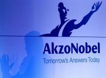 Le contentieux entre Akzo Nobel et certains de ses actionnaires mécontents du rejet par le groupe néerlandais de l'offre de 26,3 milliards d'euros de son concurrent américain PPG Industries, s'est déplacé sur le terrain judiciaire lundi. /Photo d'archives/REUTERS/Jerry Lampen