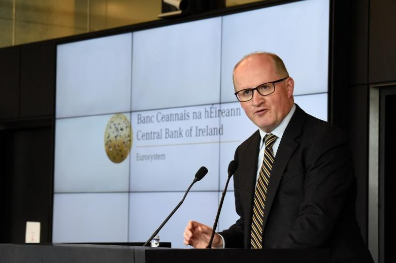 Governor of the Central Bank of Ireland Philip R. Lane speaks at open the new Central Bank of Ireland offices in Dublin, Ireland April 24, 2017. REUTERS/Clodagh Kilcoyne