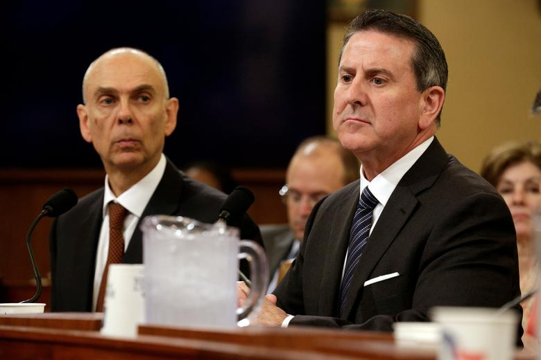 Juan Luciano (L), Chairman, President and CEO of Archer Daniels Midland Company and Brian Cornell, Chairman and CEO of the Target Corp., testify to the House Budget Committee on tax reform on Capitol Hill in Washington, U.S., May 23, 2017.   REUTERS/Joshua Roberts