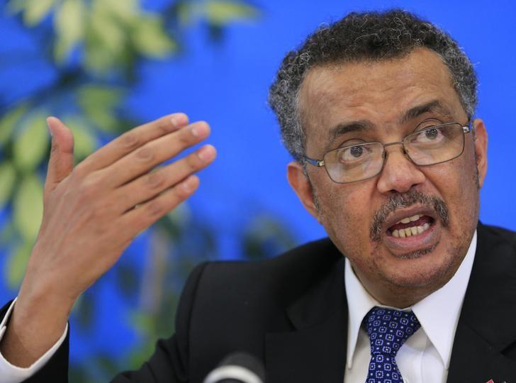 Tedros Adhanom Ghebreyesus, candidate for Director General of the World Health Organisation, attends a news conference at WHO headquarters in Geneva, Switzerland, January 26, 2017. REUTERS/Pierre Albouy/Files