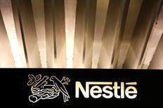 Logo da Nestlé na sede da companhia em Vevey, na Suíça 18/02/2016 REUTERS/Pierre Albouy/File Photo