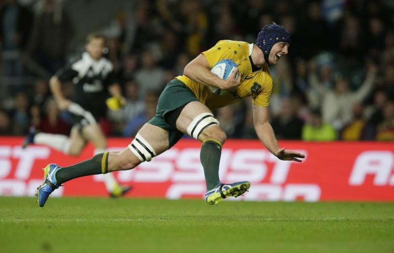 Rugby Union Britain - Argentina v Australia - Rugby Championship - Twickenham Stadium, London, England - 8/10/16Australia's Dean Mumm scores a tryAction Images via Reuters / Henry BrowneLivepic