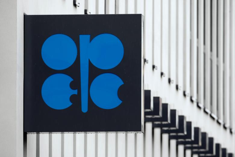 The logo of the Organization of the Petroleum Exporting Countries (OPEC) is pictured on the wall of the new OPEC headquarters in Vienna March 16, 2010.  REUTERS/Heinz-Peter Bader/File Photo
