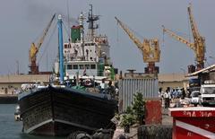 A general view shows the Djibouti port, file.  REUTERS/Ahmed Jadallah