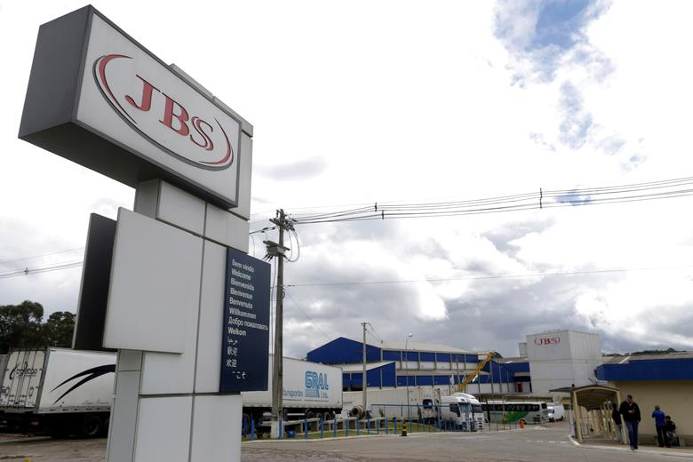 FILE PHOTO - General view of Brazilian meatpacker JBS SA in the city of Lapa, Parana state, Brazil, March 21, 2017.  REUTERS/Ueslei Marcelino/File Photo