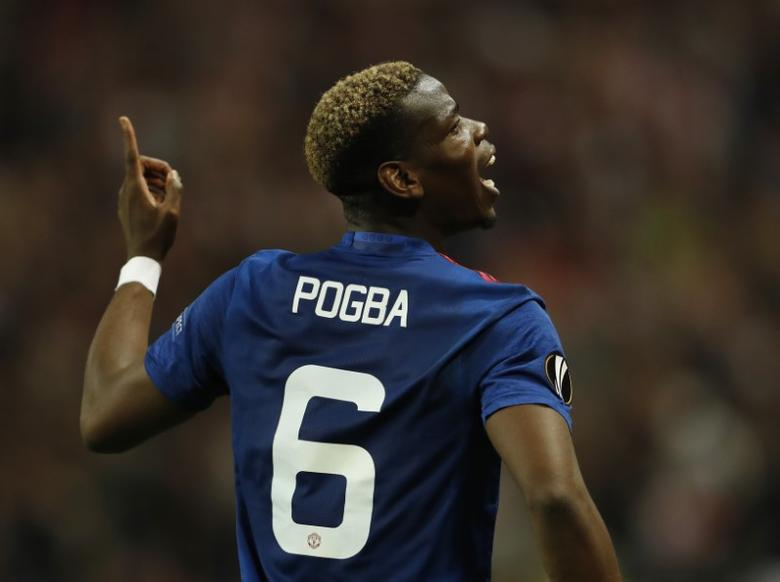 Football Soccer - Ajax Amsterdam v Manchester United - UEFA Europa League Final - Friends Arena, Solna, Stockholm, Sweden - 24/5/17 Manchester United's Paul Pogba celebrates after winning the Europa League Reuters / Lee Smith